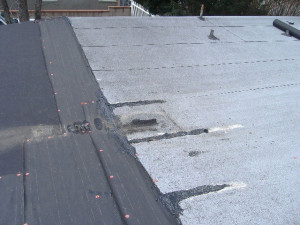 The roof before we installed the Duro-Last roof